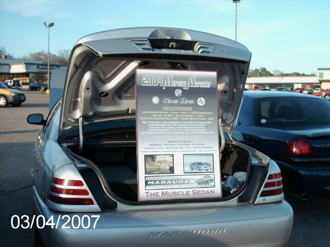 Need Ideas For A Show Board For Car Shows MercuryMaraudernet Forums - Car show display board ideas
