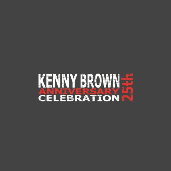 Logo for Kenny Brown's 25 year anniversary celebration